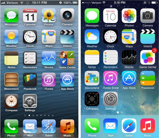 Skeumorphisme et Flat chez Apple