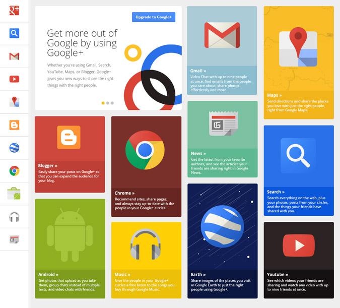 Le Flat Design chez Google