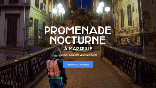 Promenade Nocturne à Marseille avec Google Maps
