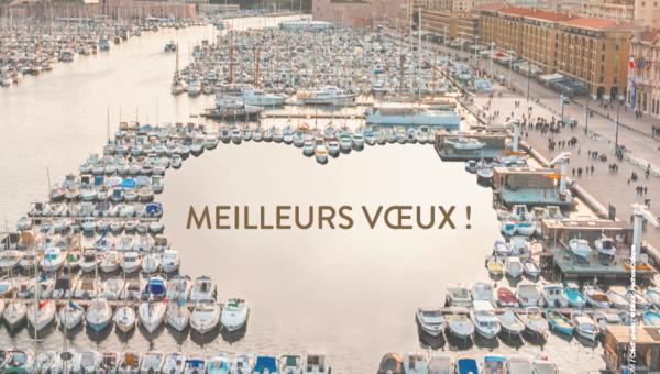 Affiche des vOux de la Ville de Marseille par l'agenceAffiche des voeux de la Ville de Marseille par l'agence Groupe C2 Groupe C2