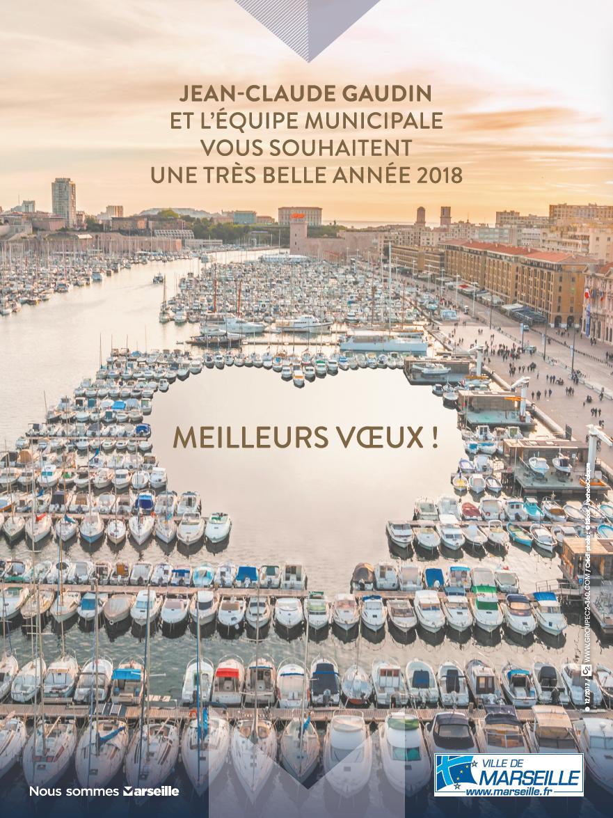 Affiche des voeux de la Ville de Marseille par l'agenceAffiche des voeux de la Ville de Marseille par l'agence Groupe C2 Groupe C2